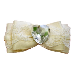 Ivory Wedding Bow Barrette by Ruff Ruff Couture®