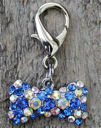Blue Viva Las Vegas! Dog Collar Charm