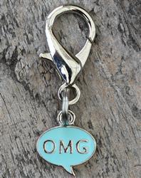 OMG! Blue Dog Collar Charm