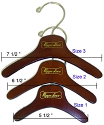 Wooden Hangers - With Logo