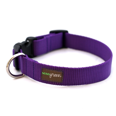 Purple (Dark Grape) Webbing Collars & Leashes