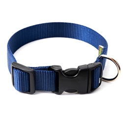 Navy Webbing Collars & Leashes
