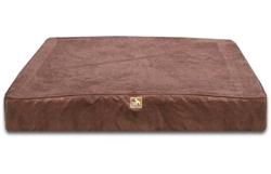 Chocolate Orthopedic Rectangle Bed Cover Only