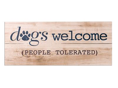 Dogs Welcomed...People Tolerated -Wood Pallet Sign