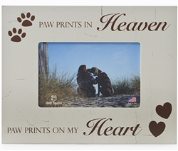 "Paw Prints in Heaven 7.5"" x 9.5"" Picture Frame"