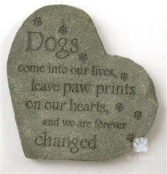 Paw prints on our Hearts… Memory Stones