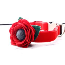 Poppy Dog Collar Flower -- Remembrance Day Flower
