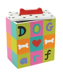 Hand Painted Collection - arf Dog Treat Box