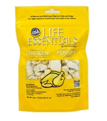 2oz. pouches of Life Essentials Freeze Dried Chicken