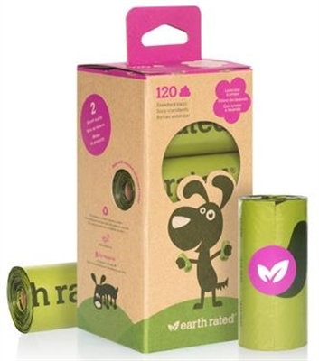 EARTH RATED  SCENTED BIO120 (8 rolls per pack)
