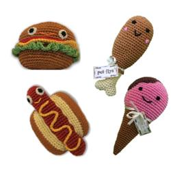 Food Collection- Knit Knacks- Organic Cotton Crocheted Toys