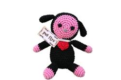 BaaBaa Black Sheep- Knit Knacks- Organic Cotton Crocheted Toys