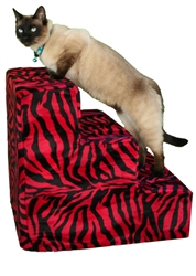 Pet Flys USA- Pet Steps- Red Zebra