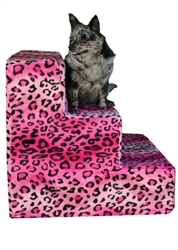 Pet Flys USA- Pet Steps- Hot Pink Cheetah