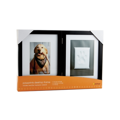 Pawprints Desk Frame in Espresso by Pearhead
