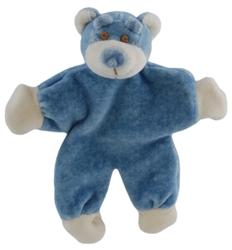 """Beginnings Wally 5"""" Stuffless Blue Bear w/ Crinkle Paper"""