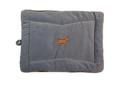 Organic Cotton Crate Mat- Baby Blue