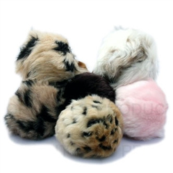 Assorted Tiki Squeaky Faux Fur Balls w/squeakers