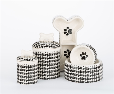 Houndstooth Bowls & Treat Jars Collection