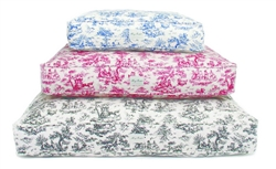 Toile Canvas Rectangle Bed