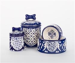 Mexican Ceramic Dog Bowls & Treat Jars