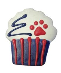 Patriotic Fluffy Cupcake
