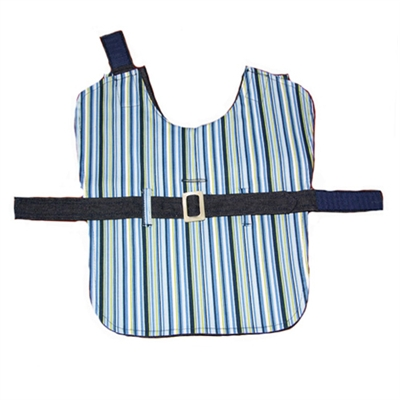 Blue Candy Stripe Reversible Trench