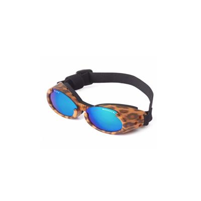 Leopard Print Frame ILS Doggles with Mirror Lens