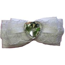 White Wedding Bow Barrette by Ruff Ruff Couture®