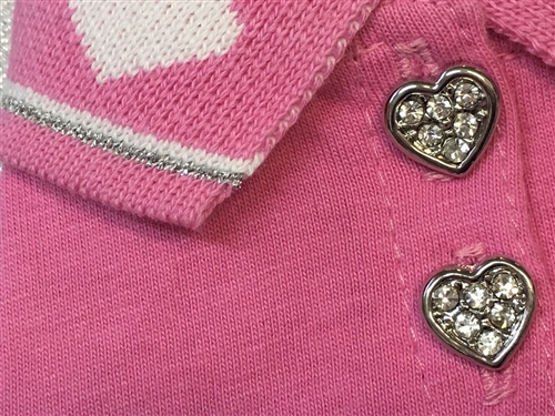 Hot Pink Heart Polo