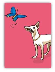 Blank Inside - Chihuahua & Butterfly