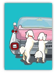 Blank Inside: Poodles & Pink Cadillac