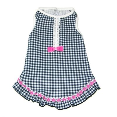 Sweetheart Tank Dress - Black/White Gingham, Pink Hearts & Bows
