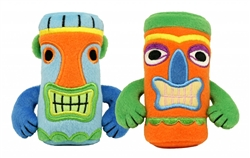Small Tiki Toys - 6 PK  (3 Blue - 3 Orange)