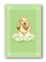 Cocker Spaniel & Daisies - Fridge Magnet