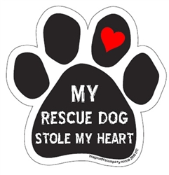 My Rescue Stole My Heart - Paw Magnets