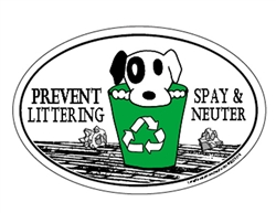 PREVENT LITTERING SPAY & NEUTER Oval