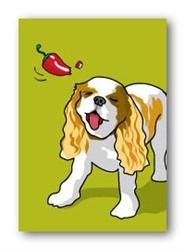 Cavalier & Red Pepper - Fridge Magnet