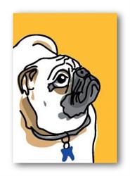 Pug Profile - Fridge Magnet