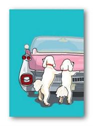 Poodles & Pink Cadillac - Fridge Magnet