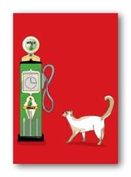 Cat & Gas Pump - Fridge Magnet