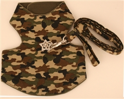 Camo harness vest with genuine Swarovski Crystals
