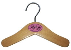 Wood & Chrome Hangers w/logo by Ruff Ruff Couture®
