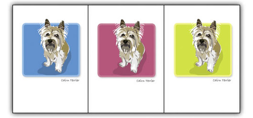 Cairn Terrier, Tan - Grrreen Boxed Note Cards