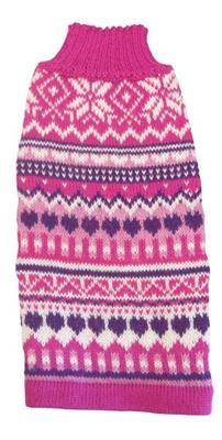 Alpaca Sleeveless Sweater - Pink Sweetheart XL by Alqo Wasi