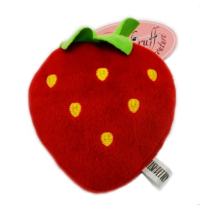 Sweet Strawberry Plush Toy with Squeaker by Ruff Ruff Couture®