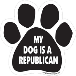 My Dog is A Republican  Paw Magnets