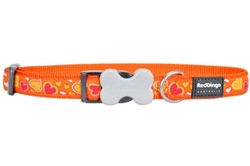 Breezy Love Orange Dog Collars, Leashes, & Harnesses