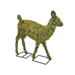 "Mossed Topiary - Fawn (25""H x 27""L x 7""W)"
