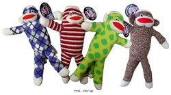 Sock Monkey Squeak Toy